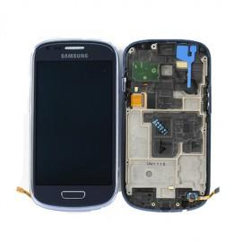 Vitre tactile et écran LCD Galaxy S3 Mini i8190 bleu