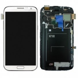 Ecran LCD+ Vitre Tactile + Chassis Galaxy Note 2 N7100 blanc (Compatible AAA)