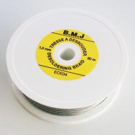 Tresse à dessouder 1.5mm x 30m compatible sans plomb