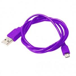 Câble micro usb violet