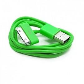 Câble iphone 4 vert
