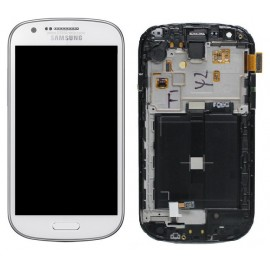 Vitre tactile et écran LCD Samsung Galaxy Express i8730 blanc (Compatible AAA)