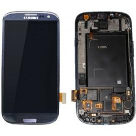 Vitre tactile et écran LCD Samsung Galaxy S3 bleu i9305 (Compatible AAA)