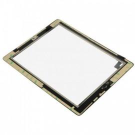 Vitre tactile noire + bouton home + scotch 3M iPad 2