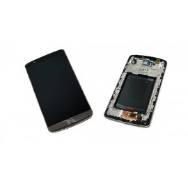 Ecran LCD + vitre tactile + châssis LG G3 D855 Gris (officiel) ACQ87190302