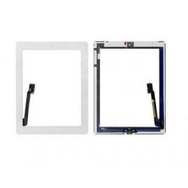 Vitre tactile blanche + bouton home + scotch 3M iPad 3