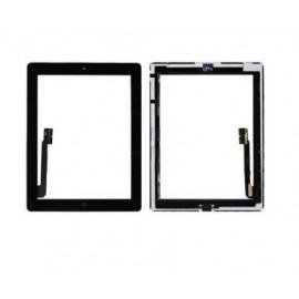 Vitre tactile noire + bouton home + scotch 3M iPad 3