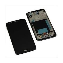 Ecran LCD + vitre tactile + châssis LG G2 D802 Noir (officiel) ACQ87040901