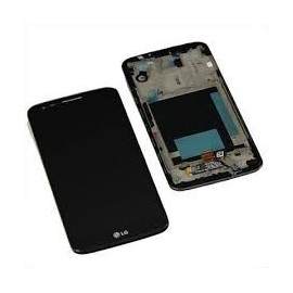 Ecran LCD + vitre tactile + châssis LG G2 D802 Noir (Compatible AAA)