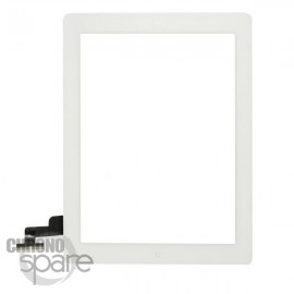Vitre tactile blanche + bouton home + scotch 3M iPad 2