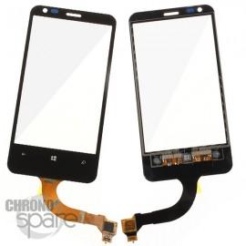Vitre tactile + châssis Nokia Lumia 620 Noire (générique AA)