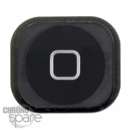 Bouton home noir iphone 5 avec caoutchouc