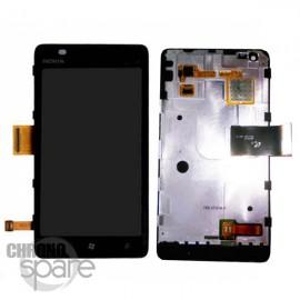 Vitre tactile et écran LCD Nokia Lumia 900 Noir