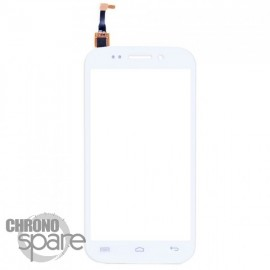 Vitre tactile blanche + sticker Wiko Stairway