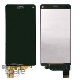 Ecran LCD et vitre tactile sans châssis noir Xperia Z3 Compact (compatible AAA)