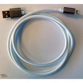 Câble Lightning blanc Tressé