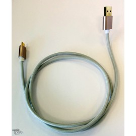 Câble Micro Usb gris Tressé
