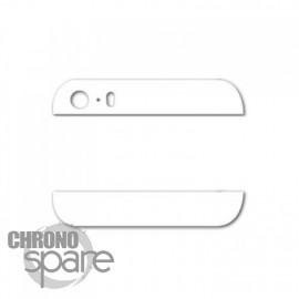 Cache vitre arrière haut et bas blanche iPhone 5