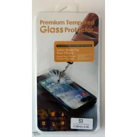Vitre de protection en verre trempé Samsung Galaxy S3 avec Boîte