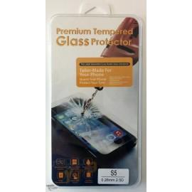 Vitre de protection en verre trempé Samsung Galaxy S5 avec Boîte