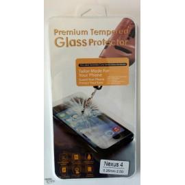 Vitre de protection en verre trempé Nexus 4 avec Boîte