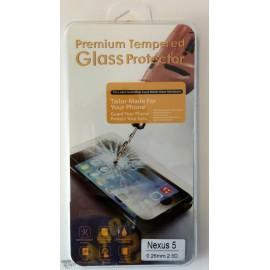 Vitre de protection en verre trempé Nexus 5 avec Boîte
