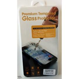 Vitre de protection en verre trempé Samsung Galaxy S2 avec Boîte
