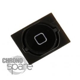 Bouton home noir iPhone 4S avec contour plastique
