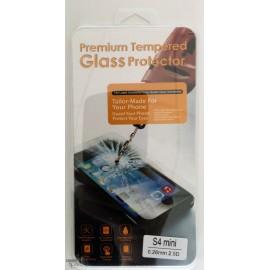 Vitre de protection en verre trempé Samsung Galaxy S4 Mini avec Boîte