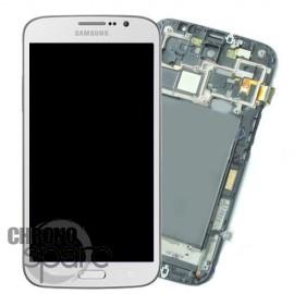 Vitre tactile et ecran LCD Mega i9205 blanc avec chassis (original)