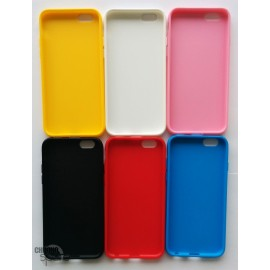 Coque silicone iPhone 6 Blanc