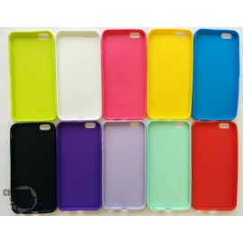 Coque silicone iPhone 6+ Noir