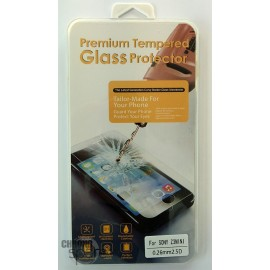 Vitre de protection en verre trempé Sony Z3 Compact avec Boîte