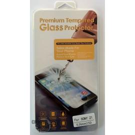 Vitre de protection en verre trempé Sony Z1 avec Boîte