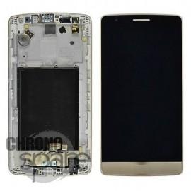 Ecran LCD + vitre tactile + châssis LG G3 D855 Or (officiel) ACQ87190303