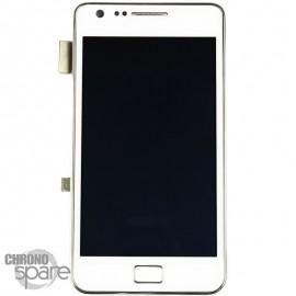 Vitre tactile et écran LCD Galaxy S2 i9100 blanc