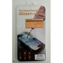 Film de protection en verre trempé Samsung Galaxy S3 Mini avec Boîte