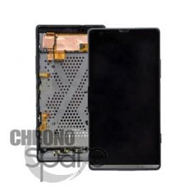 Bloc Vitre tactile Noire + LCD + Chassis Xperia SP C5303