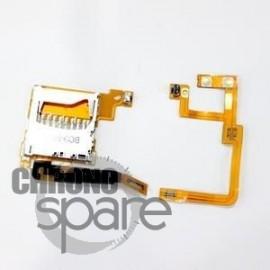 Lot 2 nappes Lecteur carte SD + gachette gauche et droite Nintendo DSi XL