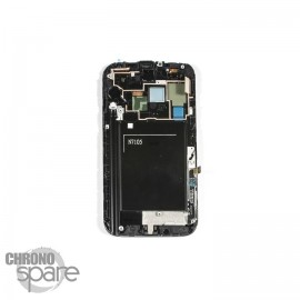Ecran LCD + Vitre Tactile + Chassis Galaxy Note 2 N7105 Blanc (Compatible AAA)