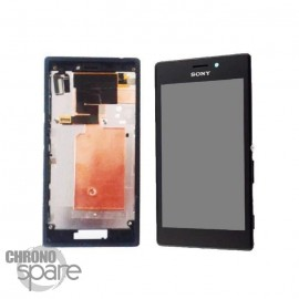 Ecran LCD + Vitre tactile noire + châssis Sony Xperia M2 (officiel)
