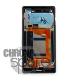 Ecran LCD + Vitre tactile Noire + Chassis Sony Xperia M4 Aqua Dual E2333 (officiel) 124TUL0015A