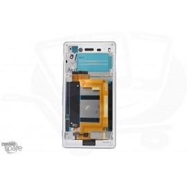 Ecran LCD + Vitre tactile Blanche + Chassis Sony Xperia M4 Aqua Dual E2333 (compatible)