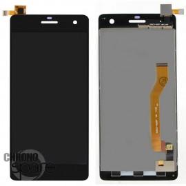Ecran LCD + Vitre Tactile Noire Wiko Highway 4G