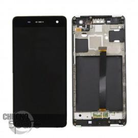 Ecran LCD + Vitre Tactile noire + Chassis Xiaomi Mi4