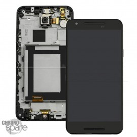 Ecran LCD + Vitre Tactile Noire + Chassis pour Google LG Nexus 5X H791 (Officiel) ACQ88485501