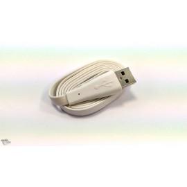 "Câble micro usb blanc ""haut de gamme"" Slim"