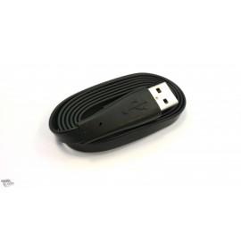 """Câble Micro USB Noir """"haut de gamme"""" Slim"""
