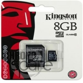 Carte mémoire Kingston Micro SDHC 16Go Class 10 + Adaptateur