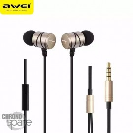 Ecouteurs Intra-auriculaires AWEI Q5i Or